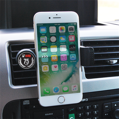 Smartphone holder for air vent
