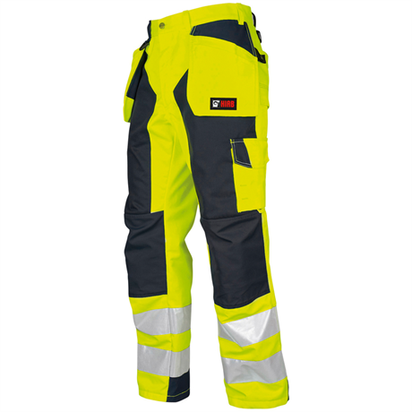 Safety work trousers, yellow/black