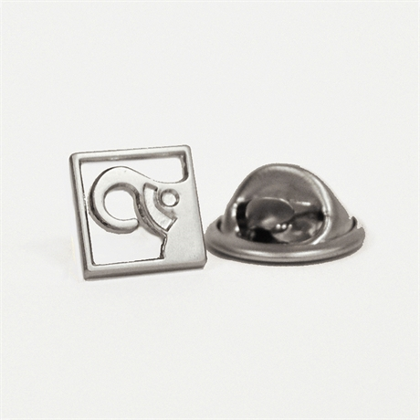 Elephant pin, silver